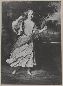 Portret van Amalia van Nassau-Dietz (1655-1695)