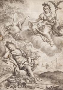 Pallas Athene verschijnt aan de slapende Odysseus op de kust van Ithaca