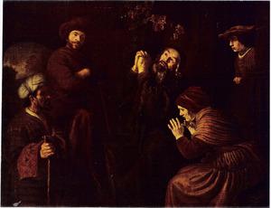Jozefs met bloed bevlekte mantel wordt aan Jacob getoond (Genesis 37:32-35)