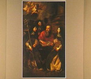 De H. Hiëronymus met de heilige nonnen Paola Romana, Marcella en Eustochium