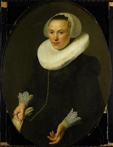 Portret van Maria Joachimsdr. Swartenhont (1598-1631)
