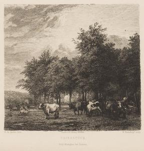 Landschap met een kudde runderen
