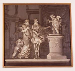 Klassieke scène met offer aan Eros