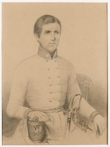 Portret van een jonge militair, mogelijk postuum portret van Willem Henri van Aerssen Beijeren van Voshol (1829-1855)