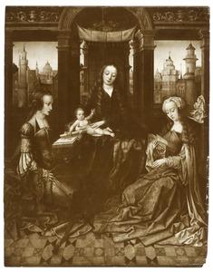 Maria met kind en HH. Catharina en Barbara