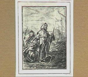 H. Franciscus van Paula steekt op zijn mantel de Straat van Messina over