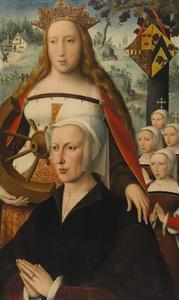 De H. Catharina met Catharina de Buisseret (?) en haar dochters