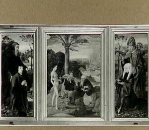 Drieluik met de verzoeking van de H. Antonius, het stichterspaar en hun patroonheiligen