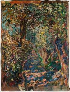 Pad tussen bomen