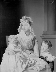 Portret van Hyke Sophia Saagmans (1770-1806) met haar kinderen