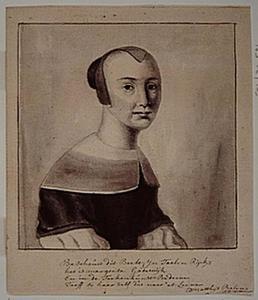Zelfportret van Margaretha van Godewijk (1627-1677)