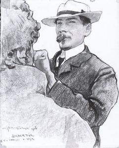 Portret van Charles Henri Marie van Wijk (1875-1917)
