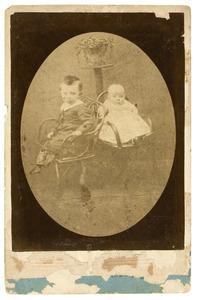 Portret van Johan Antoon Eijmers (1876-?) en Catharina Maria Geertruida Eijmers (1878-?)