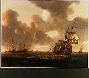 Hollandse fregatten voor een onbekende haven