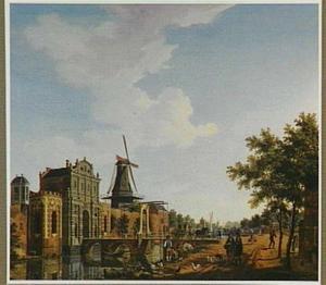 Gezicht op de Catharijnepoort te Utrecht