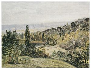 Landschap in de omgeving van Parijs