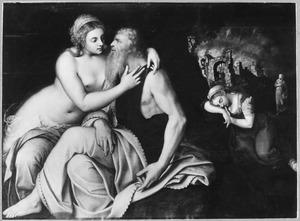 Lot door zijn dochters verleid (Genesis 19:33)