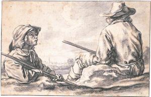 Twee rustende herders