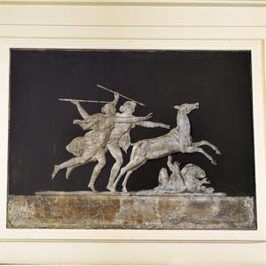 Klassieke hertenjacht met gevallen cupido