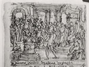 Apollonius van Tyana geneest een bezeten jongeman in Athene