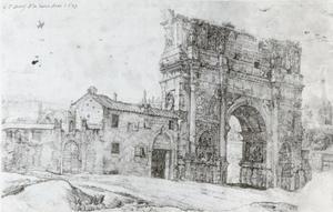 Noordzijde van de Boog van Constantijn in Rome