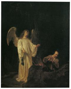 Het offer van Gideon (Richteren 6:21)