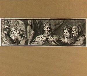 De jongelingen in de vurige oven, Koning David en twee vrouwen (?)