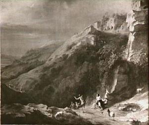 Heuvellandschap met dansende herders