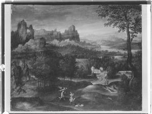 Landschap met Hagar, Ismael en de engel (Genesis 21:14-19)