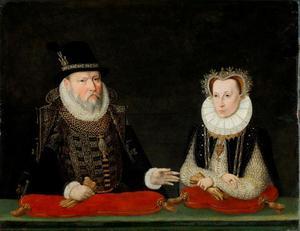 Ulrich van Mecklenburg-Güstrow (1527-1603) en Anna van Pommeren (1554-1581)