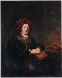 Portret van een vrouw in een exotisch kostuurm
