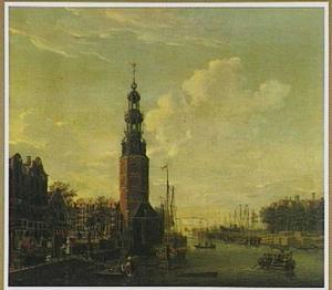 De Montelbaanstoren aan de Oude Schans in Amsterdam