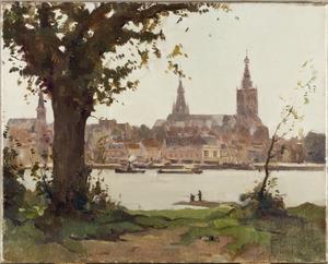 Gezicht over de Waal op Nijmegen