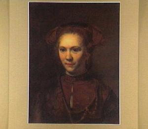 Portret van een jonge vrouw in fantasiekleding