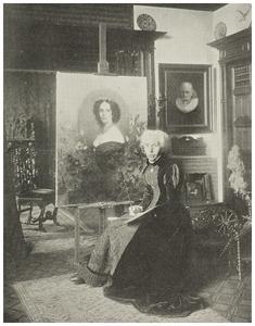 Portret van Kate Bisschop-Swift in haar atelier (1834-1928)
