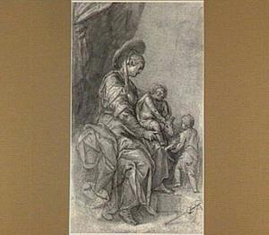 Maria met Christus en Johannes spelend met een lam
