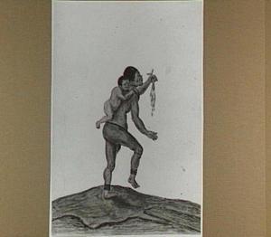Khoikhoivrouw met zuigeling