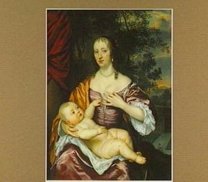 Portret van Cornelia van der Meer (1631-1711), echtgenote van Nicolaes Vivien, Heer van Buvignies, en haar zoon Anthony Vivien (1661-1707)