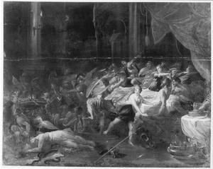 Phineus verstoort het bruiloftsfeest van Perseus en Andromeda