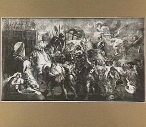 De intocht van koning Hendrik IV van Frankrijk in Parijs na de slag van Ivry