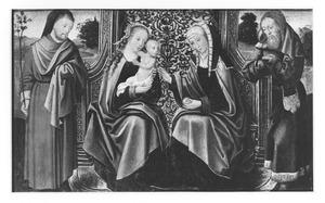 de heilige Anna-te-Drieën met Jozef en Joachim