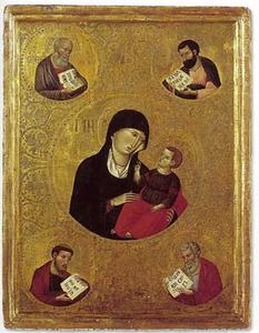 Maria met kind en de vier evangelisten