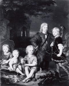 Portret van de kinderen van Jean Deutz (1655-1719) en Maria Boreel (1669-1733)