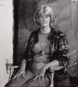 Portret van Mevrouw Langman