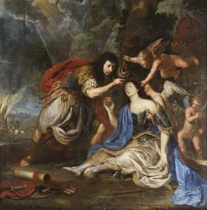 De dodelijk verwonde Clorinda gedoopt door Tancredi