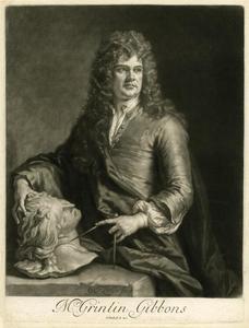 Portret van Grinling Gibbons (1648-1720)