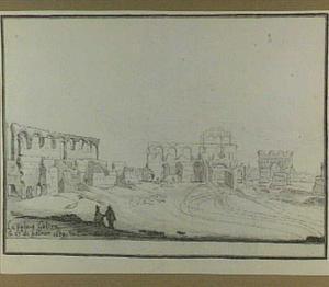 Bordeaux, binnenzijde van het Romeinse amphitheater