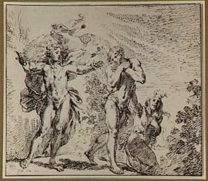 De verdrijving van Adam en Eva door de engel uit het paradijs (Genesis 3:23-24)