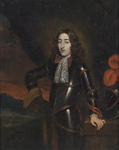 Portret van een jonge man in een harnas