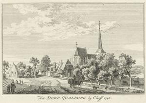 Het dorp Qualburg bij Kleef